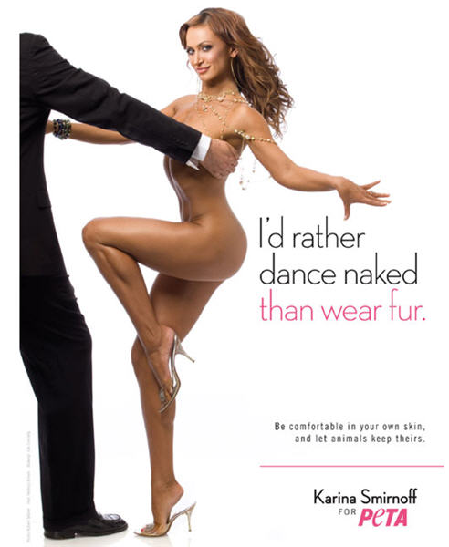 "A long time "" strategy"" for PETA is to use photo-ops with nude celebrities."